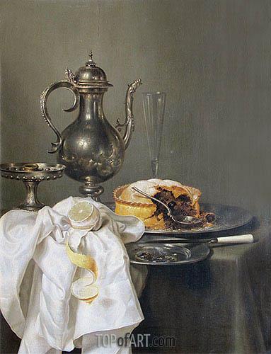 Claesz Heda | Still Life with Silver Ewer and Pie, 1645