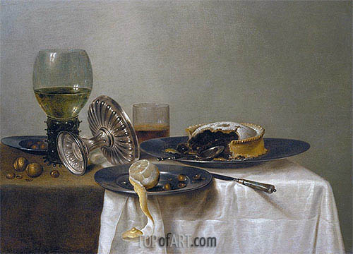 Still Life on a Table, 1638 | Claesz Heda| Painting Reproduction