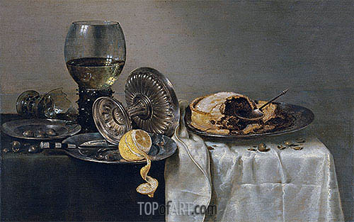 Claesz Heda | Still Life with Fruit Pie and various Objects, 1634