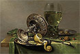 Still Life with a Tazza, Peeled Lemon and Roemer | Willem Claesz Heda