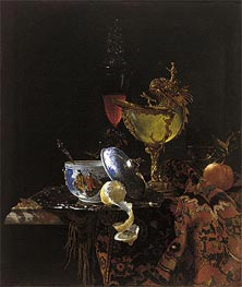 Still Life with Nautilus Cup, 1662 by Willem Kalf | Painting Reproduction