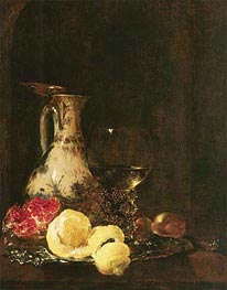 Still Life with Delft Jug, 1653 by Willem Kalf | Painting Reproduction