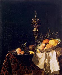 Dessert, c.1653/54 by Willem Kalf | Painting Reproduction