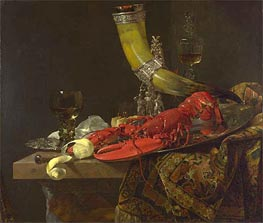 Still Life with Drinking Horn, c.1653 by Willem Kalf | Painting Reproduction