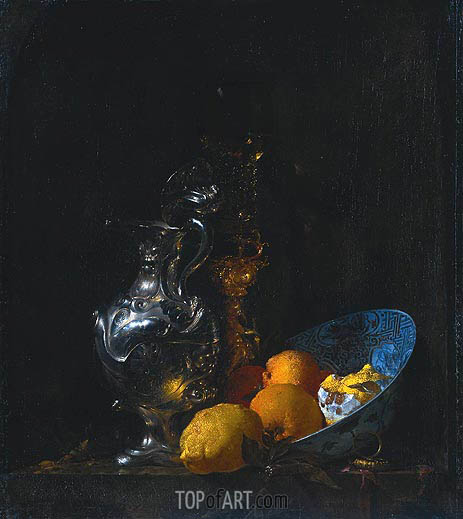 Still Life with Silver Jug, c.1655/57 | Willem Kalf | Painting Reproduction