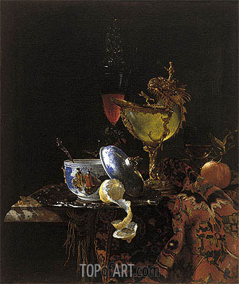 Still Life with Nautilus Cup, 1662 | Willem Kalf | Gemälde Reproduktion