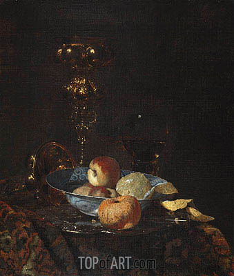Still Life with Columbine Goblet, c.1660 | Willem Kalf| Painting Reproduction