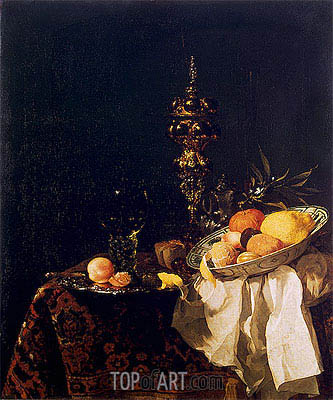 Willem Kalf | Dessert, c.1653/54