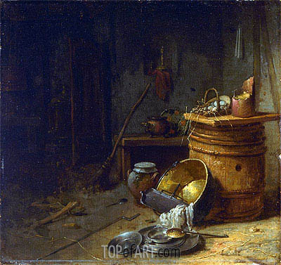 Kitchen, c.1642 | Willem Kalf | Painting Reproduction