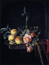 Roses and Peaches, 1659 von Willem van Aelst | Gemälde-Reproduktion