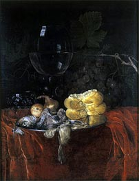 Still Life with Herring, undated von Willem van Aelst | Gemälde-Reproduktion