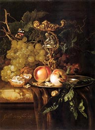 Still Life of Fruits, 1681 von Willem van Aelst | Gemälde-Reproduktion