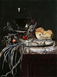 Still Life with Fish Platter, Undated by Willem van Aelst | Painting Reproduction