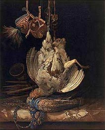 Hunting Still Life with a Dead Bird, 1671 by Willem van Aelst | Painting Reproduction