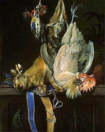 Still Life with Dead Game, 1661 by Willem van Aelst | Painting Reproduction