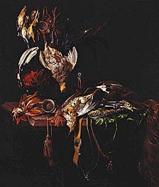 Dead Game with Trophies of the Chase, c.1657/59 by Willem van Aelst | Painting Reproduction
