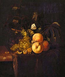 Still Life with Fruit, c.1670 by Willem van Aelst | Painting Reproduction