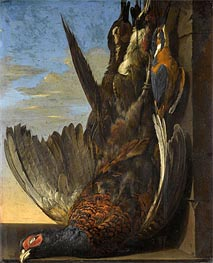 Still Life Of Game with A Pheasant, 1654 by Willem van Aelst | Painting Reproduction