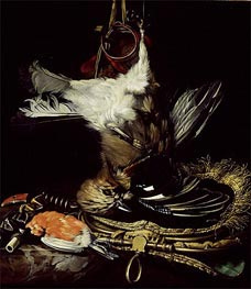 Still Life with a dead Jay, Undated by Willem van Aelst | Painting Reproduction