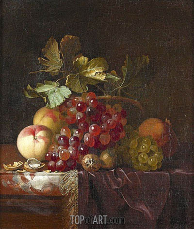Fruit Still Life, 1661 | Willem van Aelst | Gemälde Reproduktion