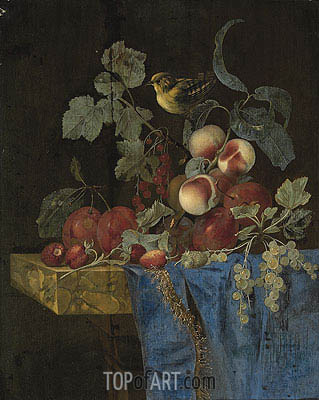 Willem van Aelst | Still Life with Fruits and a Finch, undated