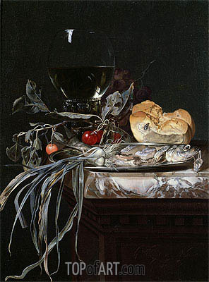 Still Life with Fish Platter,  | Willem van Aelst | Painting Reproduction