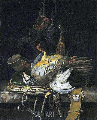 Willem van Aelst | Still Life with Game, 1671