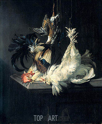 Still Life with Poultry, 1658 | Willem van Aelst | Painting Reproduction