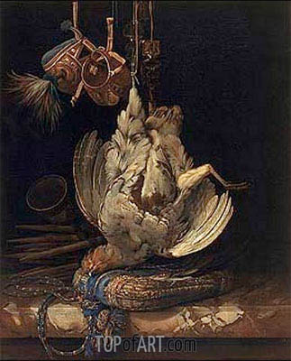 Willem van Aelst | Hunting Still Life with a Dead Bird, 1671