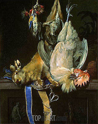 Still Life with Dead Game, 1661 | Willem van Aelst | Gemälde Reproduktion