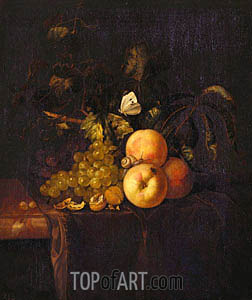Still Life with Fruit, c.1670 | Willem van Aelst | Painting Reproduction
