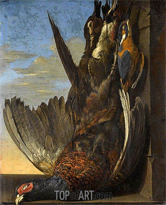 Still Life Of Game with A Pheasant, 1654 | Willem van Aelst| Painting Reproduction