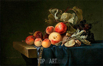 Fruit Still Life, 1650 | Willem van Aelst| Painting Reproduction