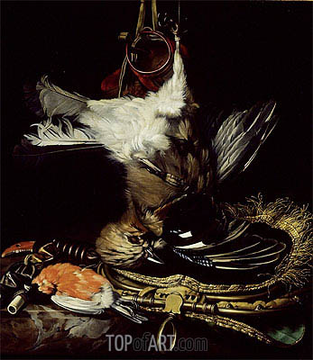 Still Life with a dead Jay,  | Willem van Aelst| Gemälde Reproduktion