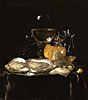 Still Life with a Roemer and Dish of Oysters | Willem van Aelst