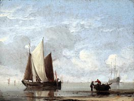 Calm Sea, c.1660 by Willem van de Velde | Painting Reproduction