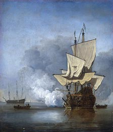 The Gun Shot | Willem van de Velde | Painting Reproduction