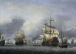 The Conquest of the English Ship 'Royal Prince' 13 June 1666, c.1666/07 by Willem van de Velde | Painting Reproduction
