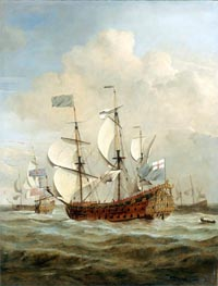 The 'St Andrew' at Sea in a Moderate Breeze | Willem van de Velde | Painting Reproduction