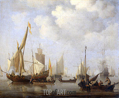 Calm Sea, c.1650/07 | Willem van de Velde | Painting Reproduction
