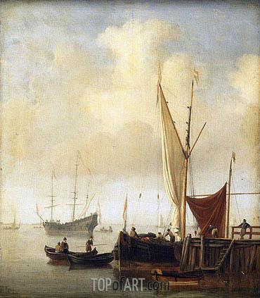 Willem van de Velde | Harbor Scene, c.1650/07