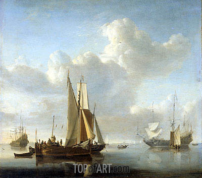 Ships at the Coast, c.1650/07 | Willem van de Velde | Painting Reproduction