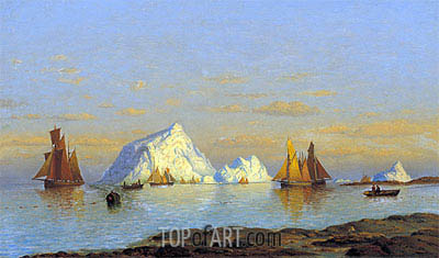 Fishermen off the Coast of Labrador, undated | William Bradford | Painting Reproduction