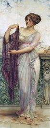 The Purple Scarf, 1913 by William Clarke Wontner | Painting Reproduction