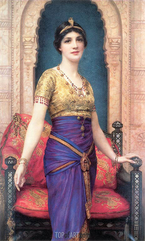 An Egyptian Beauty, undated | William Clarke Wontner | Gemälde Reproduktion