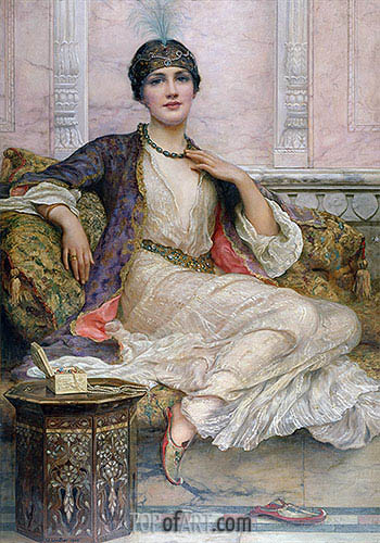 The Jade Necklace, 1908 | William Clarke Wontner| Painting Reproduction