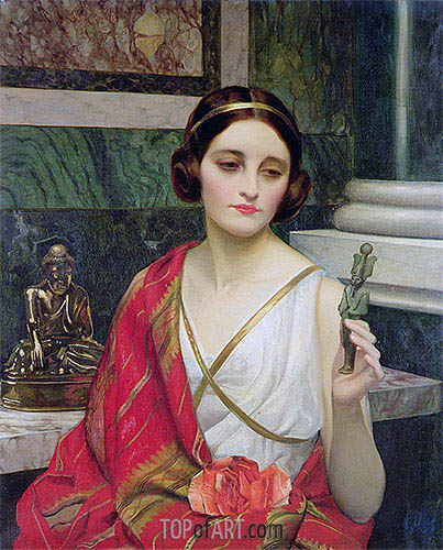 The False God, undated | William Clarke Wontner| Gemälde Reproduktion