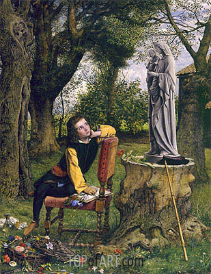 William Dyce | Titian Preparing to make his First Essay in Colouring, 1856
