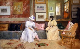 A Friendly Call | William Merritt Chase | outdated