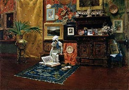 In the Studio, c.1882 by William Merritt Chase | Painting Reproduction